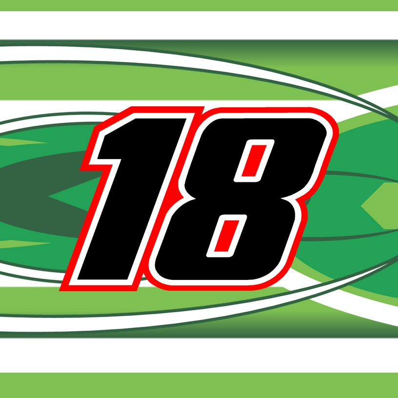 2018 Kyle Busch Cup Number Cards Diecast Charv